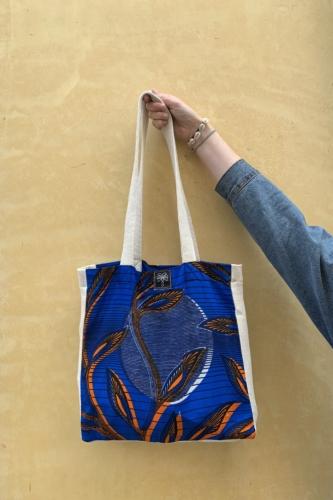 Tote bag bleu 1