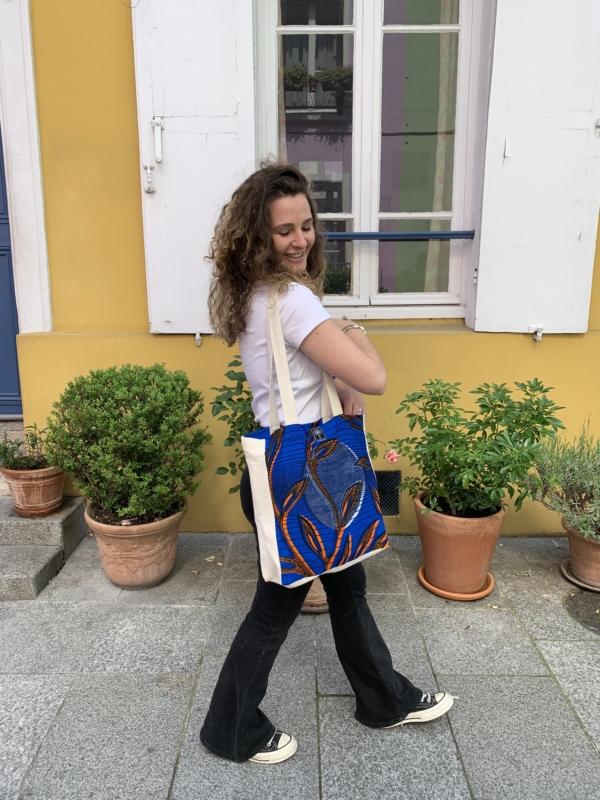 Tote bag bleu 3