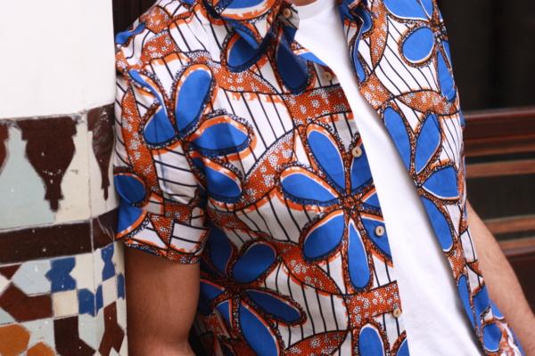 photo chemise fleurs bleues 1